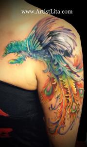 Color Phoenix tattoo