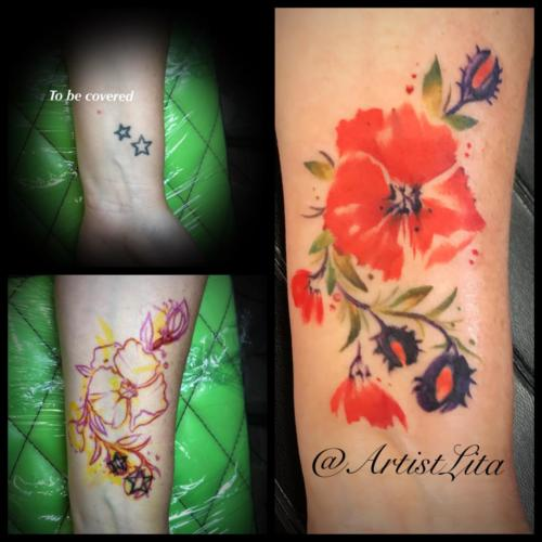 poppy flower coverup